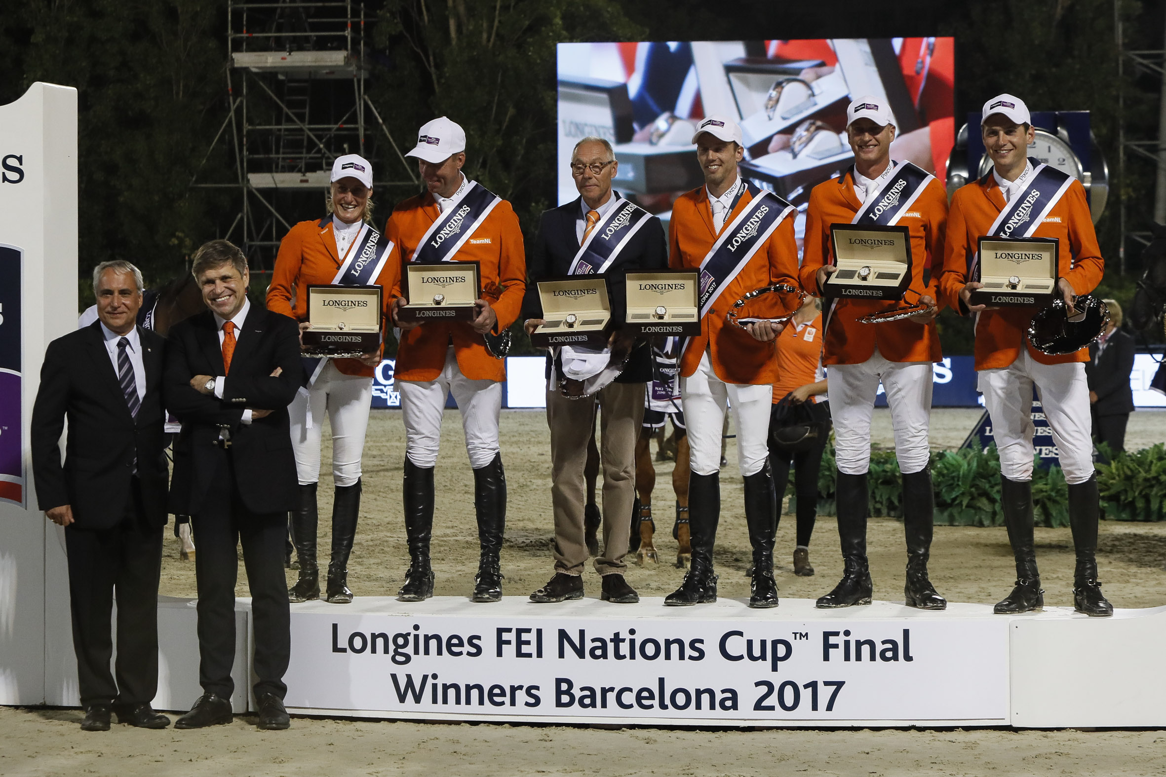 The Netherlands, Champions of the Longines FEI Nations Cup