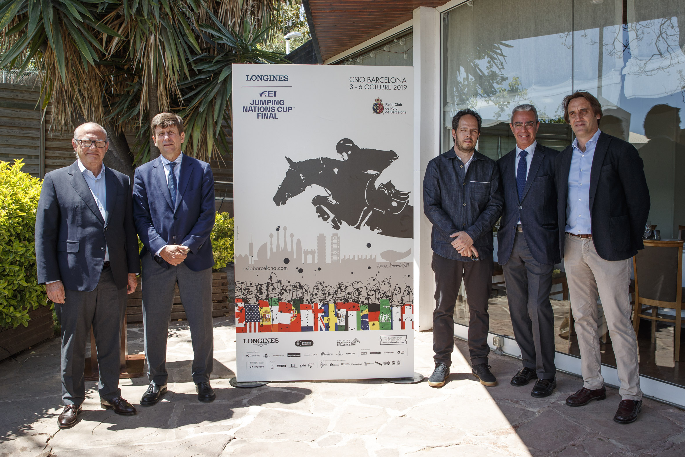 This is the official CSIO Barcelona 2019 poster