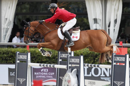 Yann Candele from Canada, winning team of the Longines Nations Cup Final qualifier