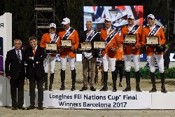 Teamof Netherlands, champions of Longines FEI Nations Cup