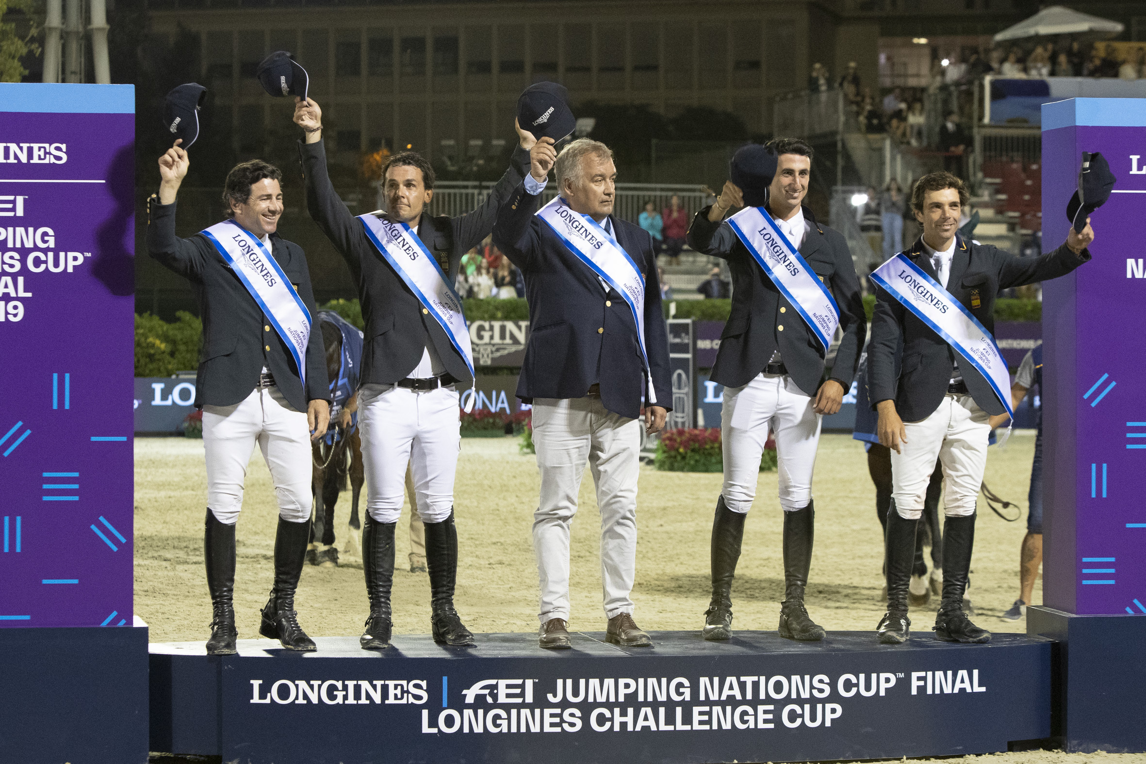 Spain wins the Longines Challenge Cup