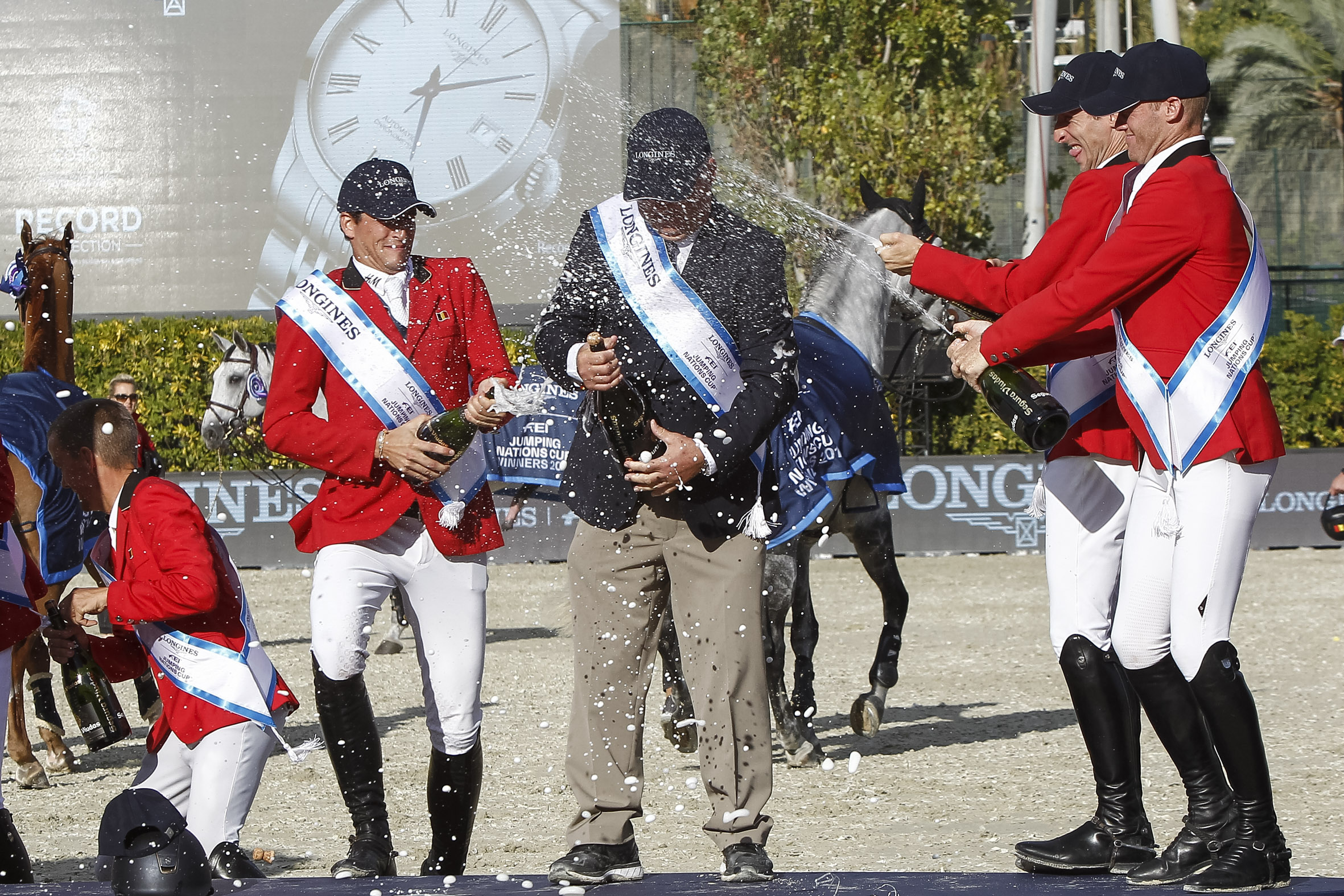 Belgium celebrates the Nations Cup with Cava Segura Viudas